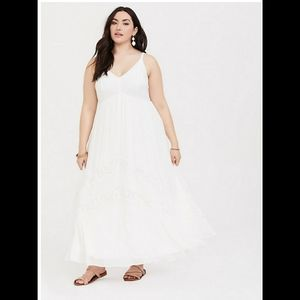Torrid Chiffon Lace Maxi Dress